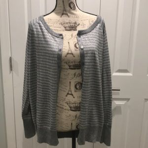 Lane Bryant 18/20 silver gray sparkle cardigan